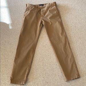 Men's dark khaki pants.American eagle.Barely worn.